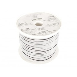 LOUDSPEAKER WIRE - WHITE - 2 x 1.00mm² - 100m