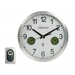 DCF WALL CLOCK Ø30cm WITH INDOOR/OUTDOOR THERMOMETER & TREND INDICATOR