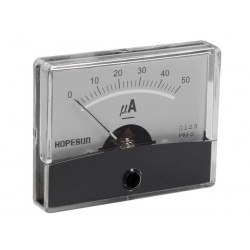 ANALOGUE CURRENT PANEL METER 50µA DC / 60 x 47mm