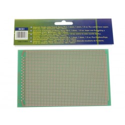 EUROCARD 1-HOLE ISLAND - 100x160mm - FR4 (1pc/bl.)