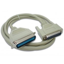 PRINTER CABLE SUBD25 MALE - CENTRONICS 36 MALE / 2m