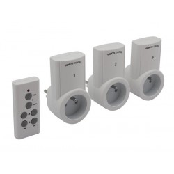REMOTE CONTROL SWITCH SET - 3 RECEIVERS - PIN EARTH