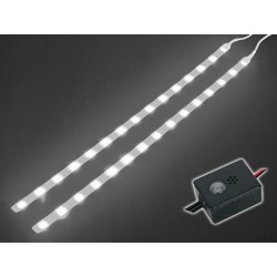 DOUBLE SELF-ADHESIVE LED STRIP WITH CONTROL UNIT, WHITE