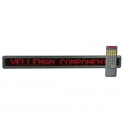 MESSAGE BOARD 7 x 120 LEDS - RED