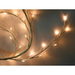 LED GARLAND - WHITE - 160 LEDs - IP44