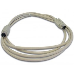 PS/2 KEYBOARD CABLE MINI DIN6 MALE - MINI DIN6 MALE / 2m