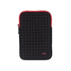 "BLACK + RED 7"" SLEEVE FOR E-BOOK READER OR TABLET PC GS-721 (GENIUS)"