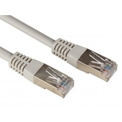 FTP NETWORK CABLE, SHIELDED RJ45, CAT 5E (100Mbps), 1m