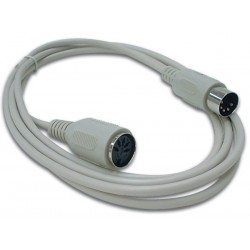 KEYBOARD CABLE DIN5 MALE - DIN5 FEMALE / 2m