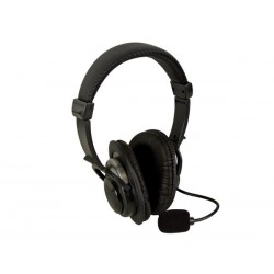 DE LUXE DIGITAL STEREO HEADPHONES + MICROPHONE
