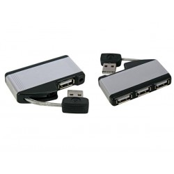 MINI TRAVEL USB 2.0 HUB, 1 x MALE TO 4 x USB-A FEMALE