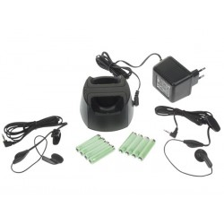 ACCESSORY PACK FOR PMR4SET (TWIN-SET CHARGER + 2 x 4 RECH. BAT. + 2 x EARPHONES)
