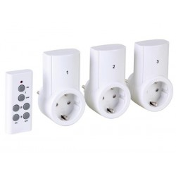 REMOTE CONTROL SWITCH SET - 3 RECEIVERS - GERMAN TYPE PLUG