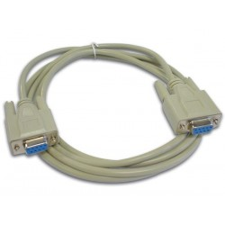 NULL MODEM CABLE SUBD9 FEMALE - SUBD9 FEMALE / 2m