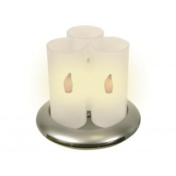 SET OF 3 RECHARGEABLE LED CANDLES