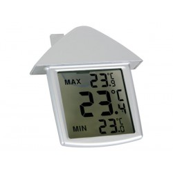 TRANSPARENT WINDOW THERMOMETER WITH MIN/MAX