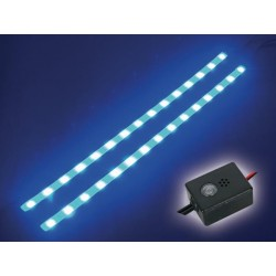 DOUBLE SELF-ADHESIVE LED STRIP - 12VDC - BLUE - WITH ON/OFF BUTTON