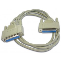 NULL MODEM CABLE SUBD25 FEMALE - SUBD25 FEMALE / 2m