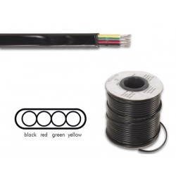TELEPHONE CABLE 4 x 0.08mm BLACK FLAT