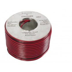 LOUDSPEAKER WIRE - RED/BLACK - 2 x 2.50mm² - 100m