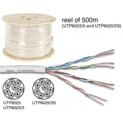 UTP CABLE CAT5E 4 x 2 x 0.51mm IVORY / 4 TWISTED PAIRS - 100m