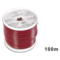 LOUDSPEAKER WIRE - RED/BLACK - 2 x 0.75mm² - 100m