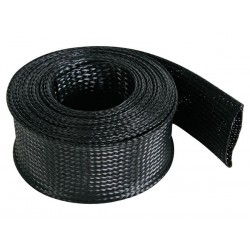 CABLE SLEEVE - FLEXIBLE - 55 MM x 5M - BLACK