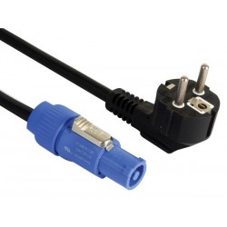 SCHUKO TO POWERCON CABLE 230V - 1.8m - RUBBER