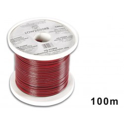 LOUDSPEAKER WIRE - RED/BLACK - 2 x 0.50mm² -100m