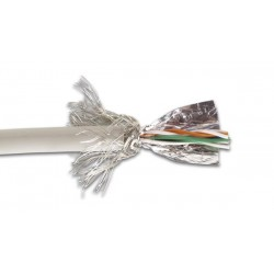 SFTP CABLE CAT5E 4 x 2 x 0.51mm SHIELDED & FOLDED / 4 TWISTED PAIRS