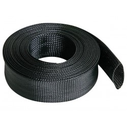 CABLE SLEEVE - FLEXIBLE - 40 MM x 5M - BLACK