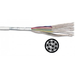 SHIELDED CABLE 8 x 0.19mm² WHITE