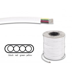 TELEPHONE CABLE 4 x 0.08mm WHITE FLAT