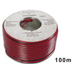 LOUDSPEAKER WIRE - RED/BLACK - 2 x 4.00mm² - 100m