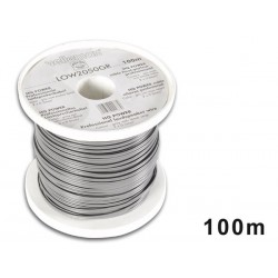 LOUDSPEAKER WIRE - GREY - BLACK STRIP - 2 x 0.50mm² - 100m