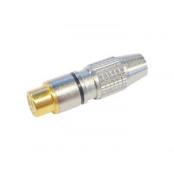 RCA PLUG FEMALE - GOLD TIP - BLACK