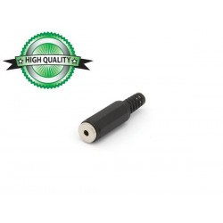 2.5mm FEMALE JACK CONNECTORS - PLASTIC BLACK STEREO