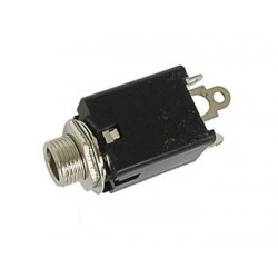 6.35mm FEMALE JACK CONNECTOR - WITH SWITCH - STEREO